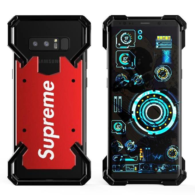 S.CENG Spider-Man / Captain America / Supreme / Ring Holder Shockproof Aluminum Metal Shell Case Cover