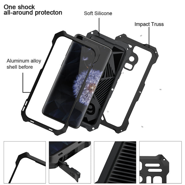R-Just Camera Lens IP54 Waterproof Aluminum Metal Heavy Duty Case Cover
