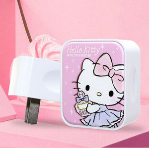 Sanrio Hello Kitty & My Melody & Little Twin Stars Dual Port 2.1A Quick Charge Travel Charger