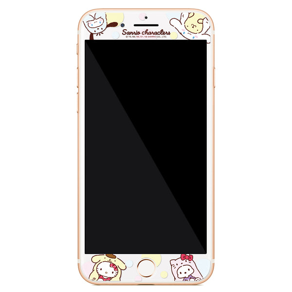GARMMA Sanrio Characters Doggie 9H Tempered Glass Screen Protector Film for Apple iPhone 8 Plus/7/6