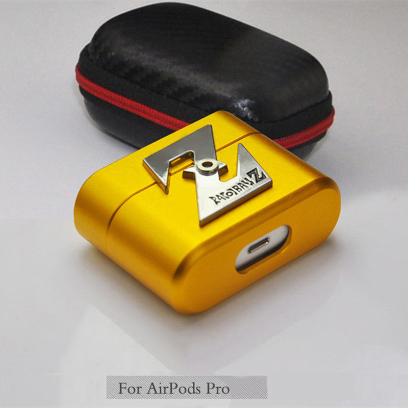 SIMON Aluminum Metal Shockproof Apple AirPods Pro Charging Case Cover