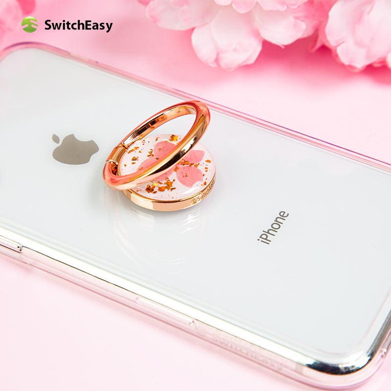 SwitchEasy Flash Ring 360° Rotating Anti-drop Ring Stand Finger Grip Phone Holder