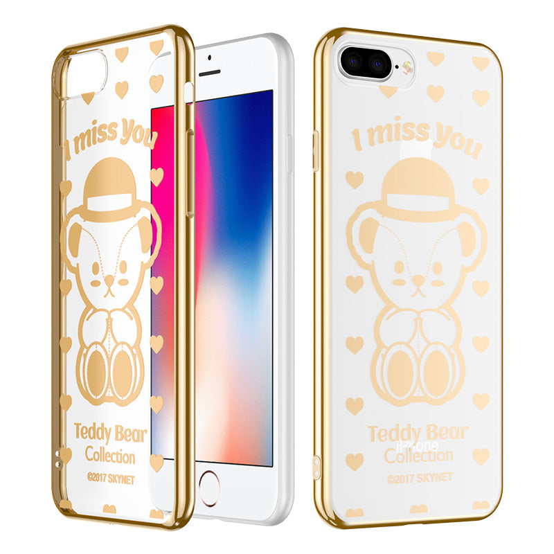 Teddy Bear Electroplating Soft TPU Back Cover Case for Apple iPhone