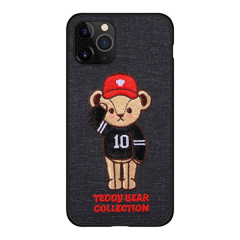 UKA Teddy Bear 3D Embroidery Back Case Cover