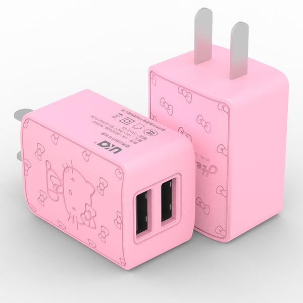 UKA Hello Kitty Dual Port 2.4A Quick Charge Travel Charger