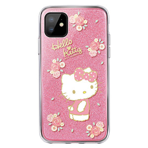 UKA Hello Kitty & My Melody Glitter Back Case Cover for Apple iPhone