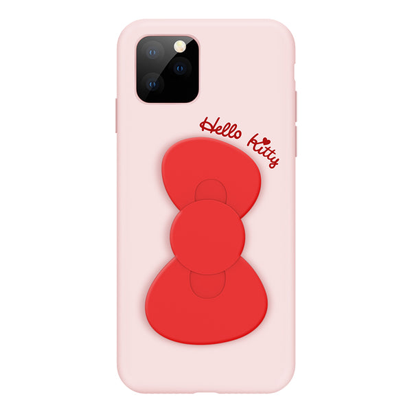 UKA Hello Kitty Liquid Silicone Case Cover with Bowknot Kickstand