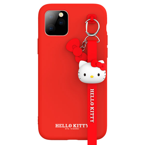 UKA Hello Kitty Liquid Silicone Case Cover with 3D Lanyard