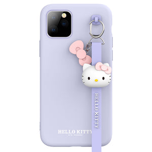 UKA Hello Kitty Liquid Silicone Case Cover with 3D Wrist Strap Lanyard