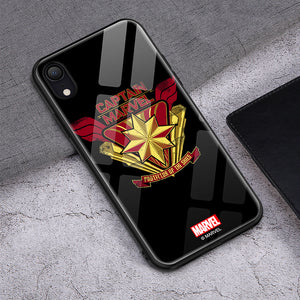 UKA Marvel Air Cushion Shockproof Tempered Glass Back Case Cover for Apple iPhone