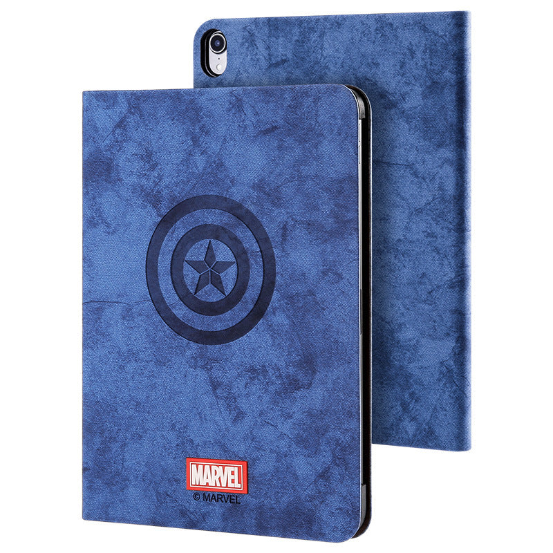 UKA Marvel Avengers Auto Sleep Folio Stand Fabric Case Cover for Apple iPad