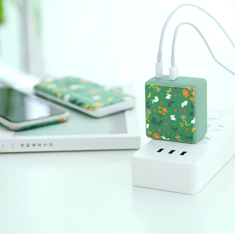 UKA Autumn Coming Type-C PD 2 Ports USB Fast Charger