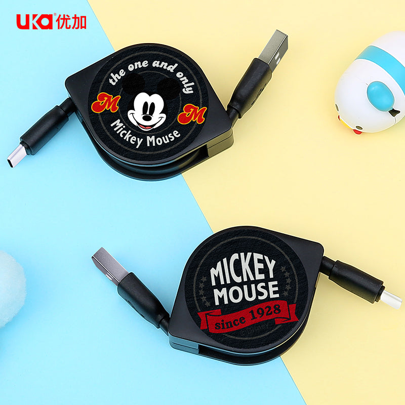 UKA Disney Mickey Mouse 1M Apple Lightning / Type-C Extracted Extension Cable