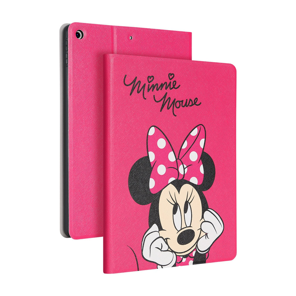 UKA Disney Auto Sleep Folio Stand Leather Case with Pen Tray for Apple iPad