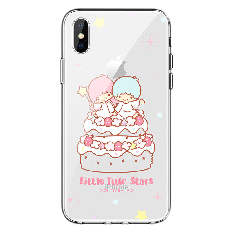 UKA Hello Kitty & My Melody & Little Twin Stars Clear Soft TPU Back Case Cover