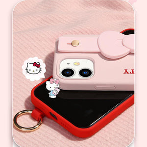UKA Hello Kitty Liquid Silicone Wristband Case Cover