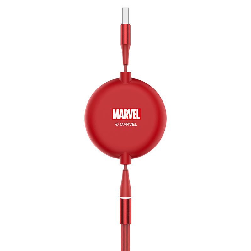 UKA Marvel Avengers Retractable 3-in-1 Lightning+Type-C+Micro USB Cable