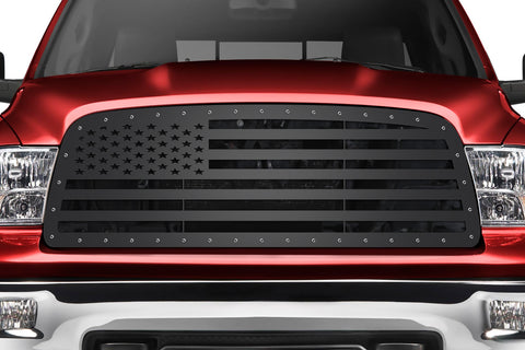 Steel Grille for Dodge Ram 1500 2009-2012 AMERICAN FLAG (Straight Across)