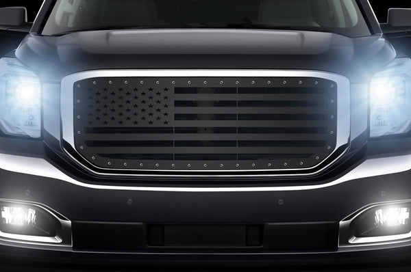1 Piece Steel Grille for GMC Yukon Denali 2015-2020 -USA Flag