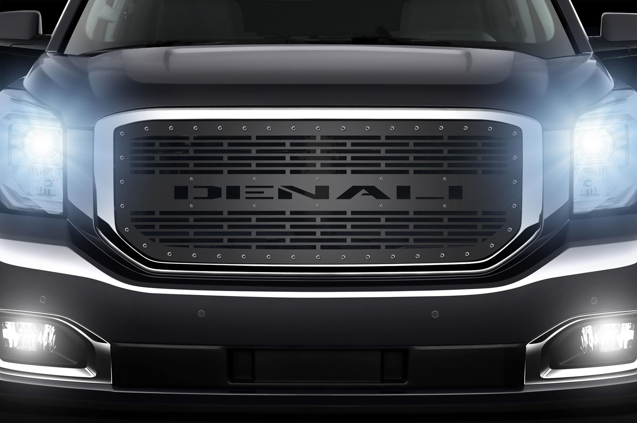 1 Piece Steel Grille for GMC Yukon Denali 2015-2020 -Denali