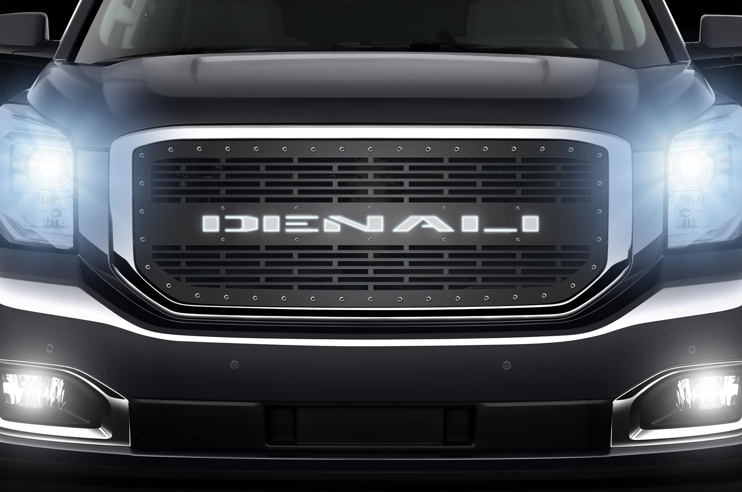 1 Piece Steel Grille for GMC Yukon Denali 2015-2020 -Denali X-Lite