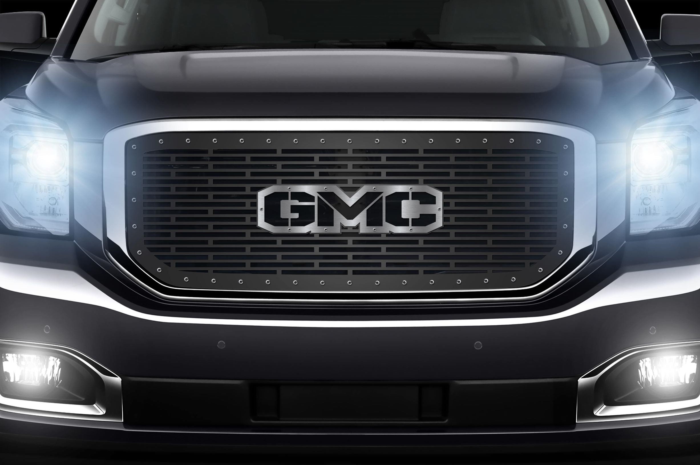 1 Piece Steel Grille for GMC Yukon Denali 2015-2020 -GMC Steel Overlay