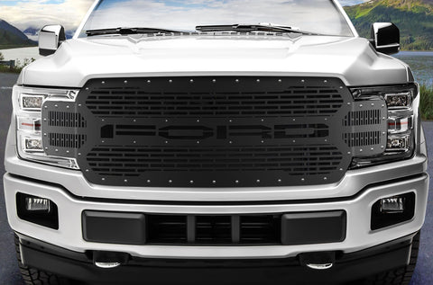 1 Piece Steel Grille for Ford F150 2018-2020 - FORD