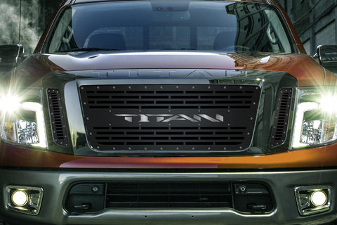 1 Piece Steel Grille for Nissan Titan 2016-2019 -