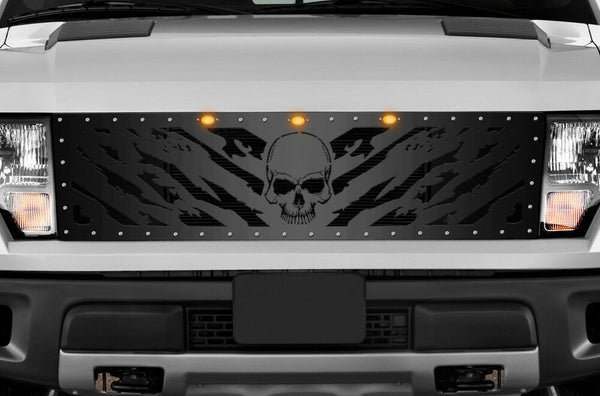 1 Piece Steel Grille for Ford Raptor SVT 2010-2014 - NIGHTMARE