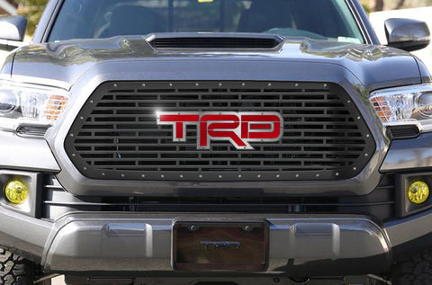 1 Piece Steel Grille for Toyota Tacoma 2016-2017 - TRD WITH ACRYLIC UNDERLAY