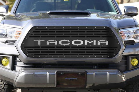 1 Piece Steel Grille for Toyota Tacoma 2016-2017 - TACOMA V2 w/ STAINLESS STEEL UNDERLAY