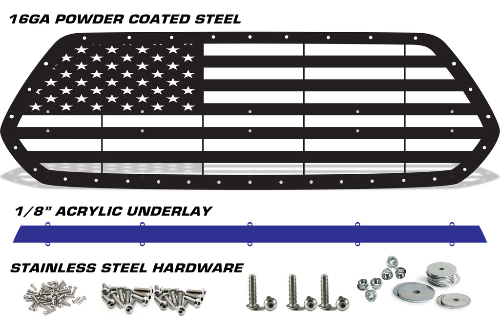 Steel Grille Toyota Tacoma 2016 2017 American Flag Acrylic