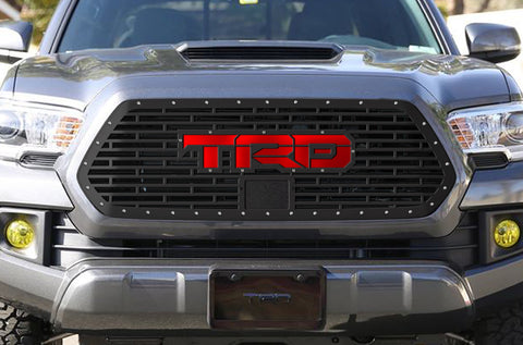 1 Piece Steel Pro Style Grille for Toyota Tacoma 2018-2020 - TRD w/ Red Acrylic Underlay