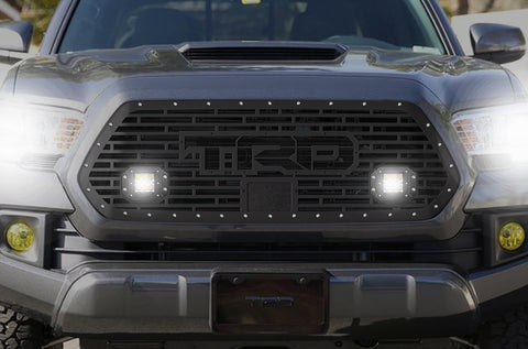 1 Piece Steel Pro Style Grille for Toyota Tacoma 2018-2020 - TRD w/ 2 LED Pods