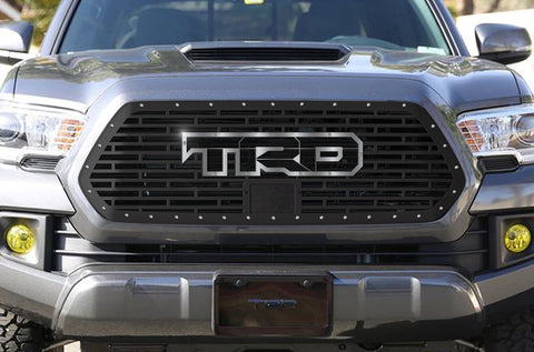 1 Piece Steel Pro Style Grille for Toyota Tacoma 2018-2020 - TRD w/ Stainless Steel Overlay