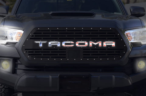 1 Piece LED X-Lite Steel Pro Style Grille for Toyota Tacoma 2018-2020 - TACOMA V2 AMERICAN FLAG