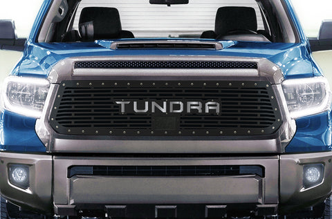 1 Piece Steel Grille for Toyota Tundra 2018-2020  Sport - TUNDRA V1 with STAINLESS STEEL UNDERLAY