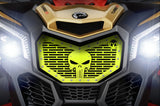 1 Piece Steel Grille CanAm Maverick X3 - PUNISHER SKULL