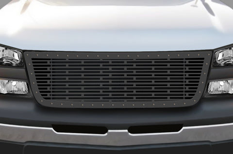 1 Piece Steel Grille for Chevy Silverado - BRICKS