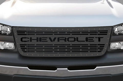 1 Piece Steel Grille for Chevy Silverado - CHEVROLET