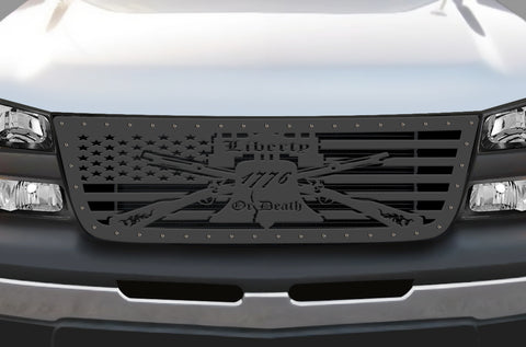 1 Piece Steel Grille for Chevy Silverado - LIBERTY OR DEATH