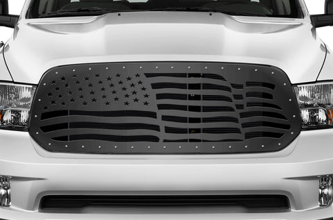 1 Piece Steel Grille for Dodge Ram 1500 2013-2018 - AMERICAN FLAG