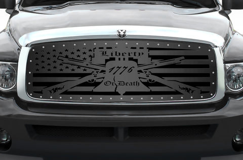 1 Piece Steel Grille for Dodge Ram 1500/2500/3500 2002-2005 - LIBERTY OR DEATH