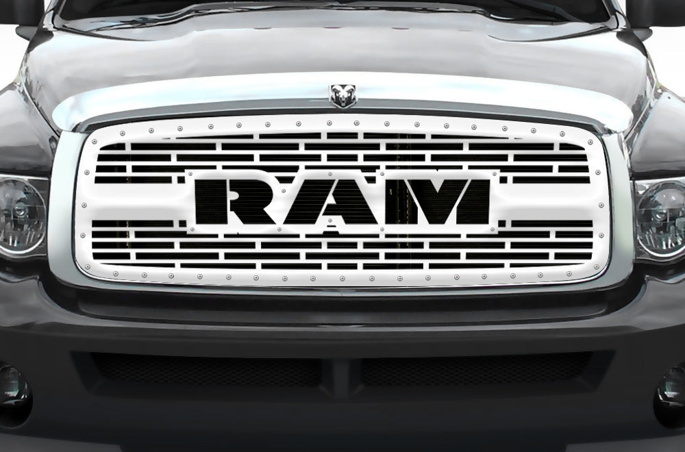 1 piece steel grille for dodge ram 1500 2500 3500 2002 2005 ram with steel finish 300 industries 1 piece steel grille for dodge ram 1500 2500 3500 2002 2005 ram with steel finish