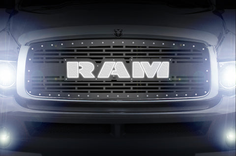 1 Piece LED X-Lite Steel Grille for Dodge Ram 2002-2005 - RAM
