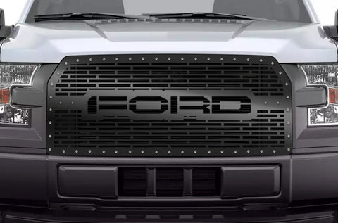 1 Piece Steel Grille for Ford F150 2015-2017 - FORD