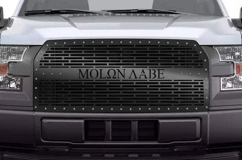 1 Piece Steel Grille for Ford F150 2015-2017 - MOLON LABE