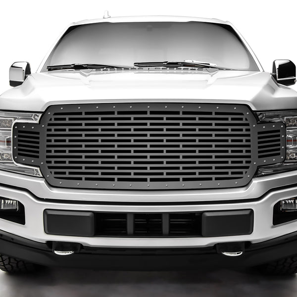 1 Piece Steel Grille for Ford F150 2018-2020 - Bricks