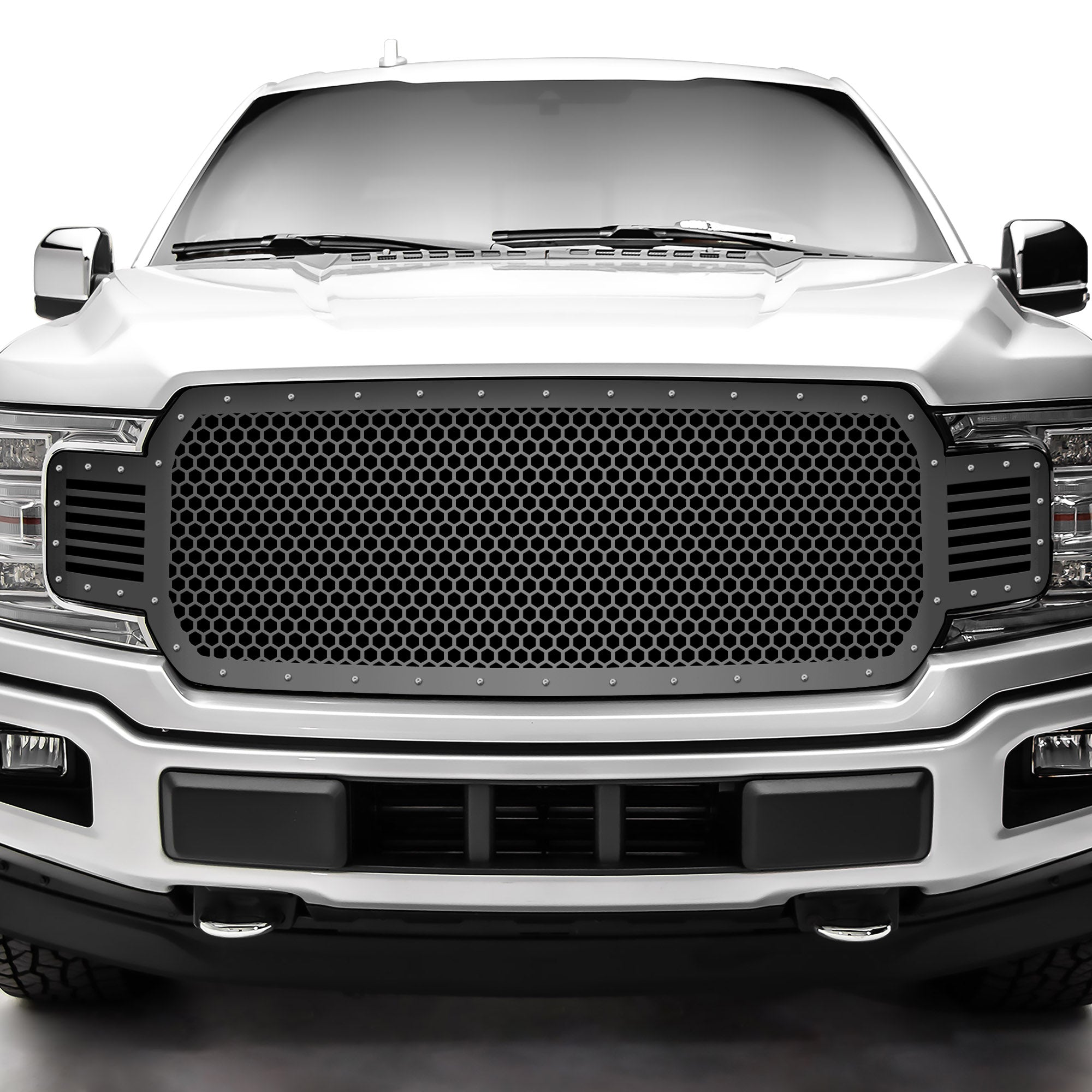 1 Piece Steel Grille for Ford F150 2018-2020 - Hex