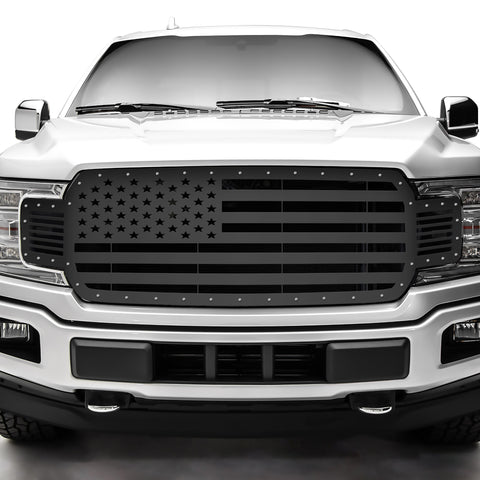 1 Piece Steel Grille for Ford F150 2018-2020 - American Flag